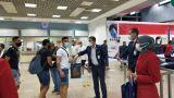 شرم وصول أول طائرة إماراتية مطار شرم الشيخ • أخبار السياحة