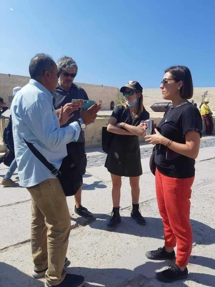 ضيوف الدورة الـ ٣٧ من مهرجان الإسكندرية السينمائي في جولة سياحية بالمدينة